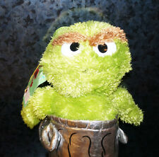 Sesame Street GROUCH BACKPACK PLUSH Zipper Children's Kids Green Doll Bag Toy