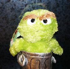 Sesame Street GROUCH BACKPACK PLUSH Zipper Children's Kids Green Doll Bag Toy