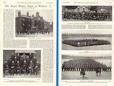1899 BOER WAR ~ ROYAL MARINE DEPOT WALMER STAFF SGTS PARADE SQUARE DRILL GROUND