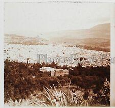 Maroc FEZ Medina Plaque de verre stéréo 45x107mm Vintage ca 1910