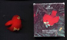 HALLMARK 1980 Christmas MERRY REDBIRD Ornament w/ BOX