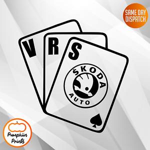 SKODA OCTAVIA FABIA VRS Vinyl Car Sticker Side Window Decal CARDS