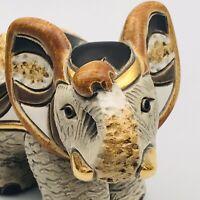 Artesania De Rosa Rinconada Denny's Event Black Elephant Gold Figurine Scarce