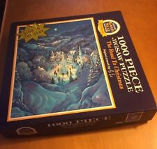 Glow-in-the-Dark 1000 Piece Jigsaw Puzzle The Road to Christmas