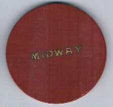 Midway Casino Vintage Poker Chip Boulder Highway Pittman Nevada 1944