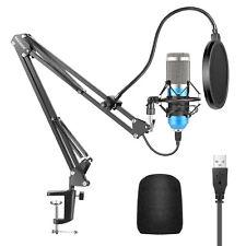 USB Micrófono Kit 192KHZ / 24BIT Plug & Play Ordenador Cardioide Micrófono