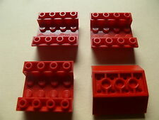 Lego 4 carenages rouges set 4708 5892 5521 10132 / 4 red slope inverted double