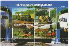 Ferrovia Treno a vapore da viaggio repoblikan 'I madagasikara 1999 Gomma integra, non linguellato FRANCOBOLLO SHEETLET