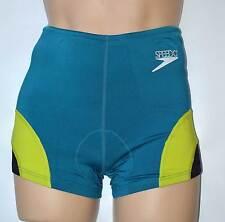 Ladies XL 16 SPEEDO Thermodry Triathlon Speed Shorts Teal Green 20201