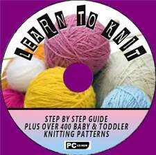 LEARN HOW TO KNIT STEP BY STEP GUIDE & 400 BABY KNITTING PATTERNS PC-CD ROM NEW