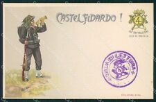 Militari IV Reggimento Bersaglieri Castelfidardo 26º Batt cartolina XF1244