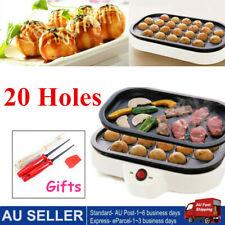 20 Holes Takoyaki Grill Pan Plate Cooking Octopus Balls Maker Meat Roast Baking