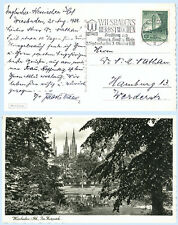 Germany 1938 #485 Sports Stadium Wiesbaden Real Photo Postcard RPPC Cover
