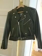 Women's vegan leather motorcycle jacket XL fits size 12 waist and a 39-41 bust