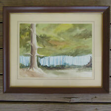 Vtg Watercolor Painting Abstract Landscape Scene Gonzales Co Texas K Hallmark
