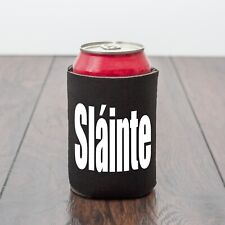 Slainte can cooler/Cheers/BBQ/Scottish/Irish/Gaelic/Beer/Novelty/Drinks gift