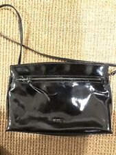 Mimco Clutch / Cross Body Bag, Medium - Black Patent and Matte leather