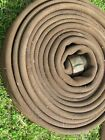 """Vintage Fabric Fire Hose CO. Wax  - 2-1/2"""" Threaded Male & Female Ends -Display"""