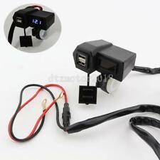 LED Voltmeter Dual USB Charger For Suzuki Boulevard C50 C90 C109R S40 S50 S83