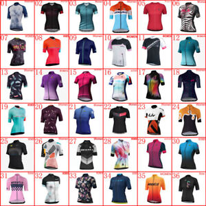 2021 Women Team Cycling Jersey Cycling Short Sleeve Maillot Bicycle Jersey Shirt