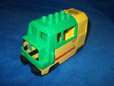LEGO DUPLO VILLE EISENBAHN elektrische Lok Zug aus Set 5609 GELB GRÜN