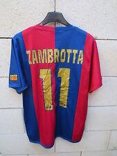 VINTAGE Maillot BARCELONE BARCELONA camiseta ZAMBROTTA n°11 jersey shirt M