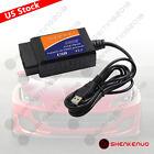 Elm327 Usb Interface Obd2 Car Diagnostic Scanner Cable For Windows Pc Computer X