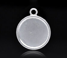 20 Hot Sell SP Round Cameo Frame Settings 28x24mm
