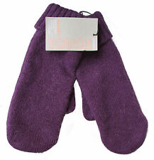 JOHN LEWIS Angora Mix Ladies Mittens Gloves Purple One Size *£15 RRP*