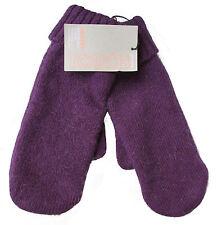 JOHN LEWIS Angora Mix Ladies Mittens Gloves Purple One Size *£15 RRP*