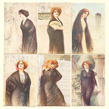 Guerzoni - Serie Set 6 Cards - Venezia Venice Glamour Lady - ST029