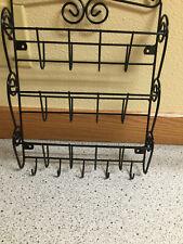 3 Slot Organizer ~ Mail Rack Key Holder ~ Black poly-coat metal