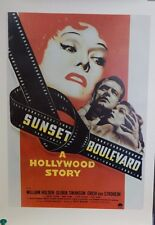 1950 Sunset Boulevard Reprint Single Sided 27x38 Movie Poster Gloria Swanson