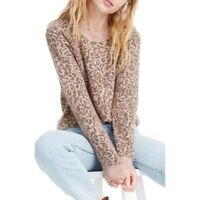 Madewell Leopard Print Wool Sweater Top Plus Size XXL NWT $128