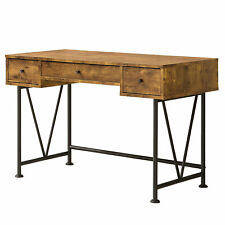Coaster Home Furniture Analiese 3 Drawer Home Office Study Desk, Antique Nutmeg
