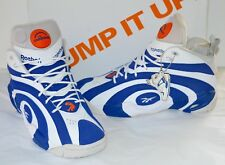 NDS Reebok Pump Shaqnosis Royal Blue/White/Grey Flux Orange sz 11.5 Shaq Rare