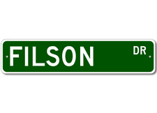 FILSON Street Sign - Personalized Last Name Sign