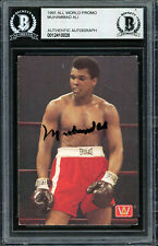 Muhammad Ali Authentic Autographed Signed 1991 All World Card Beckett 12410028