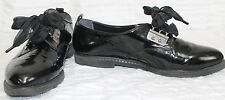 Zodiac Black Dance Shoes Womens Sz  9.5 M Sheer Ribbon Laces 83/652 Jazz Hip Hop