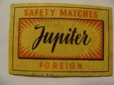 Etiquette allumette - JUPITER - Foreign - (198)