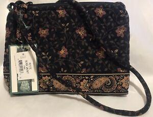 Vera Bradley Retired Rare Black Walnut Petite Shoulder Bag Never Used