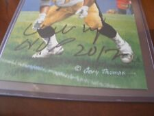 Willie Roaf signed Goal Line Art HOF 2012
