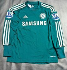 New Adidas /Chesea Cech 1 Long Sleeved Goalkeepers Green/Gold Shirt-Age 9-10yrs