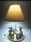 Infant Nursery Lamp Pastel Colored Zoo Animal - Elephan, Giraffe, Zebra, Rhino