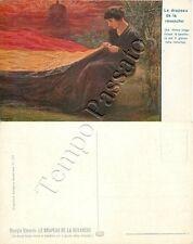 Prima guerra mondiale - Donna belga che ricuce bandiera / illustratore Kienerk