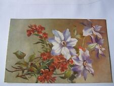 Raphael Tuck and Sons - Artistic Series - Clematis and Wallsflowers - Pre 1914
