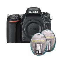 Nikon D750 Digital SLR Camera Body 24.3MP FX-format New + 2 Backup Batteries