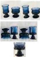 VINTAGE Tiffin Franciscan Glass Chunky Champagne Sherbet Glasses & Goblets 4-PC