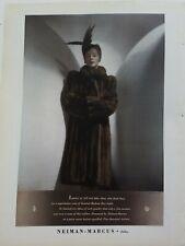 1938 Neiman Marcus women's fur coat Hudson Bay Sable plumed hat vintage ad