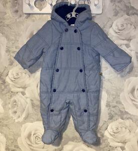 Boys Age 3-6 Months - Bluezoo Debenhams Snowsuit - Excellent Condition